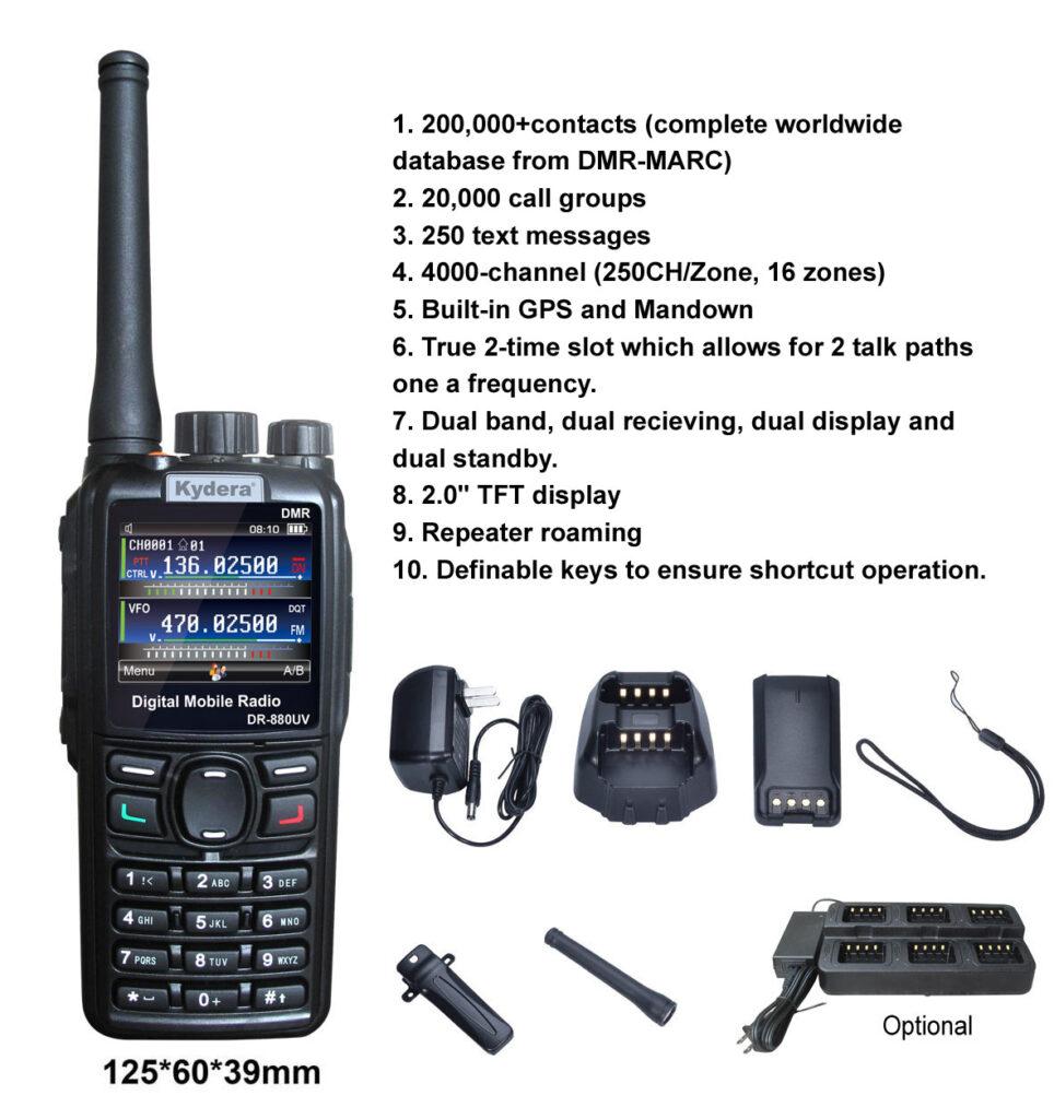 DMR handheld radio DR-880UV